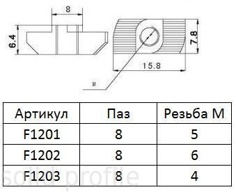 T-гайка-Nuts-for-30-Aluminum-Profile